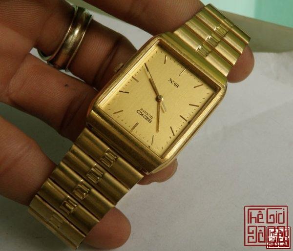 Đồng hồ Seiko SX V701 Gold Bracelet Quartz hàng chính hãng Nhật Bản sản xuất.