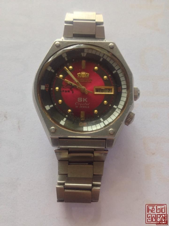 Trần Sơn Antique. - Đồng Hồ (Watch) : Orient SK Crystal 21 Jewels Mặt Lửa.