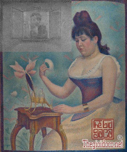 Bức Young Woman Powdering Herself của George Seurat.jpg